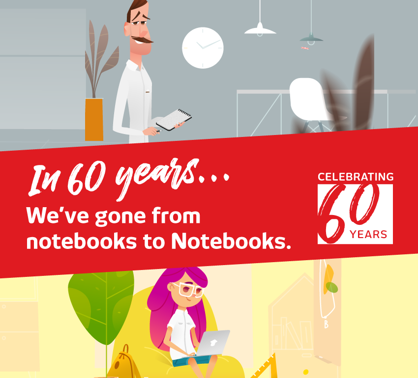 Celebrating 60 Years Notebooks