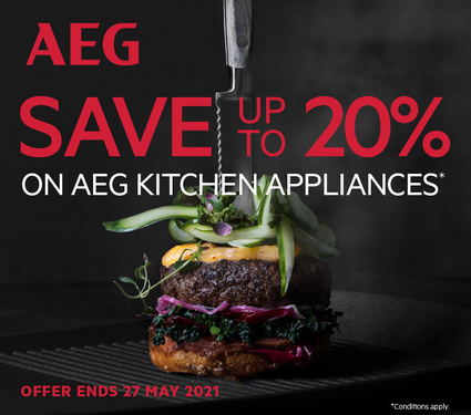 Save up to 20% on AEG Kitchen Appliances