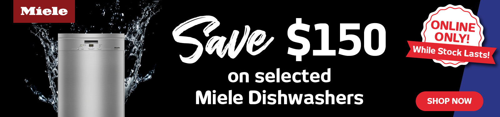 Save $150 On Selected Miele Dishwashers