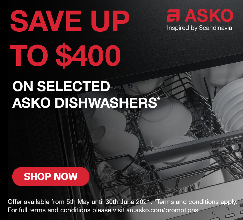 Save Up To $400 On Selected Asko Dishwashers