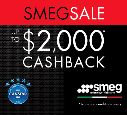 Up to $2,000 Cashback on Smeg Classic & Victoria Range