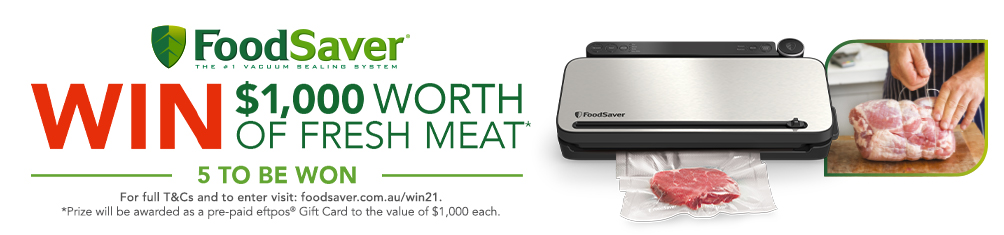 Win $1,000 of Fresh Meat with FoodSaver