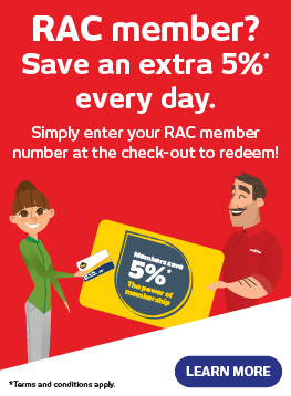 RAC Member? Save an extra 5%* every day - Retravision