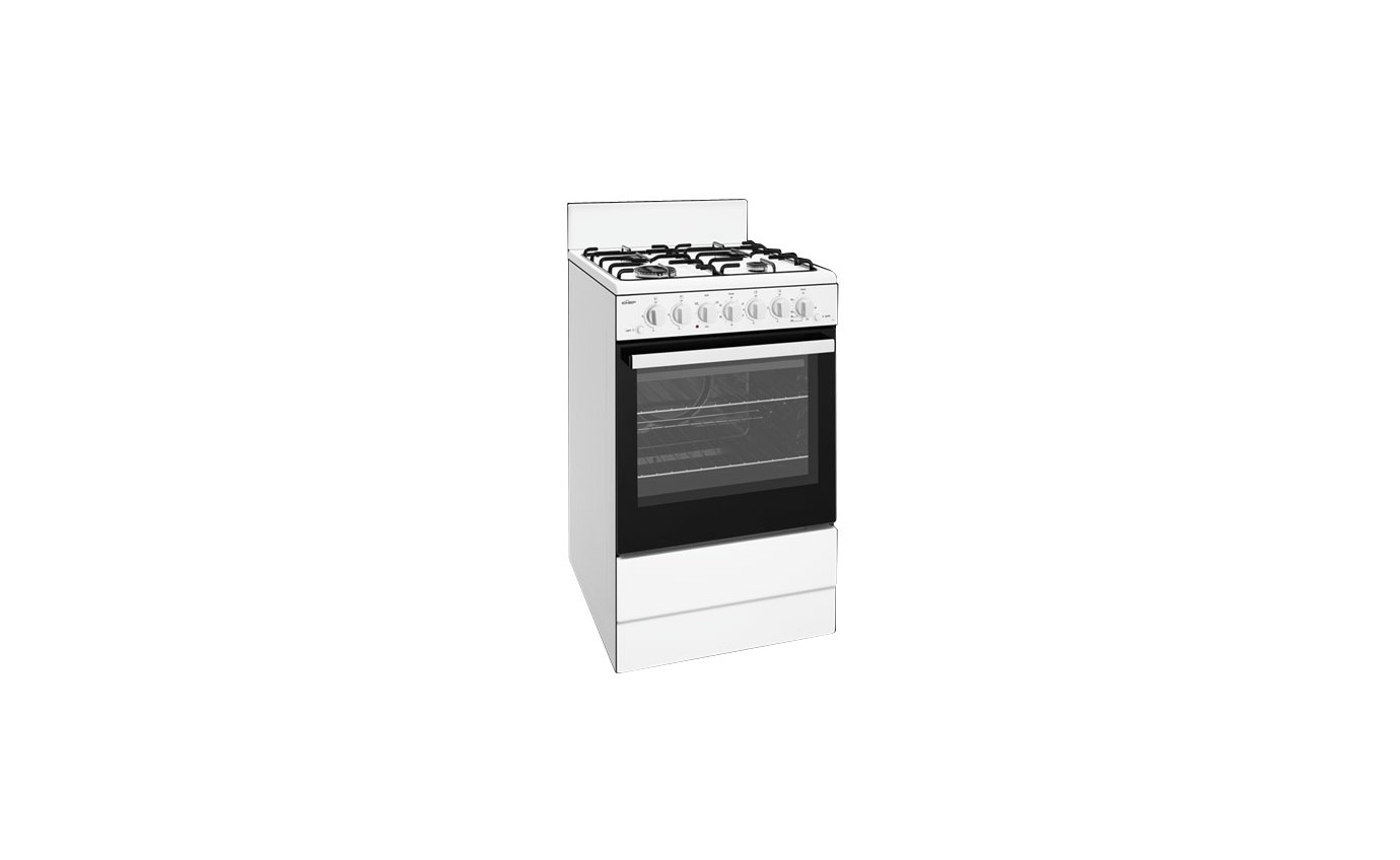 Chef 54cm Gas Freestanding Oven CFG504WBNG