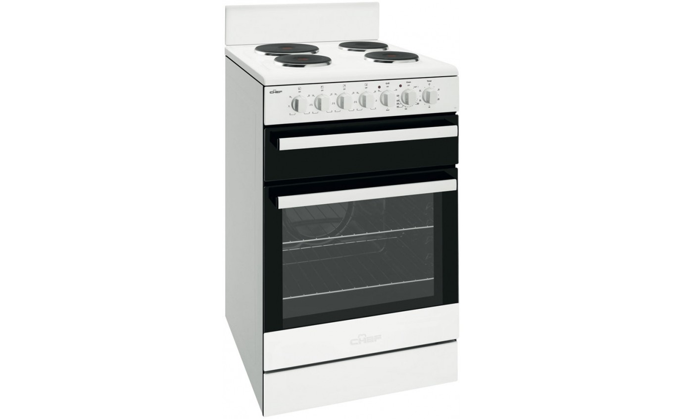 Chef 54cm Freestanding Electric Cooker CFE535WB