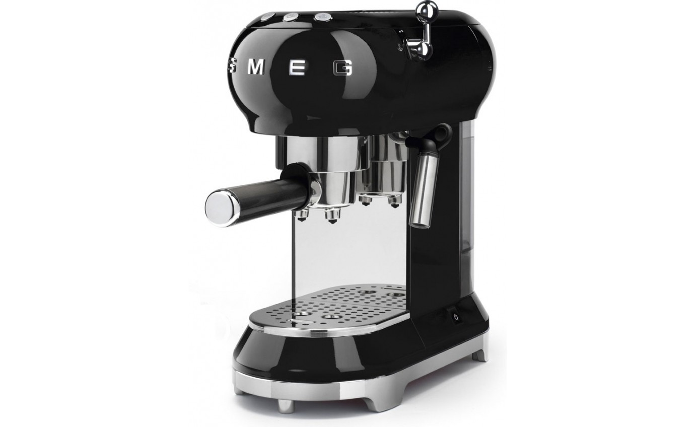 Smeg Espresso Coffee Machine - Black ECF01BLAU