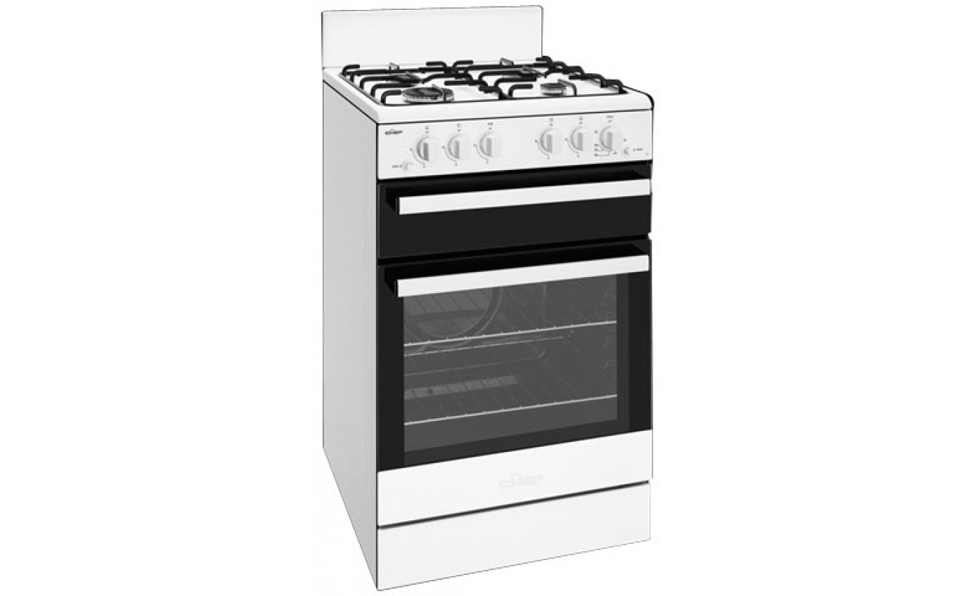 Chef 54cm Gas Freestanding Cooker CFG503WBLP