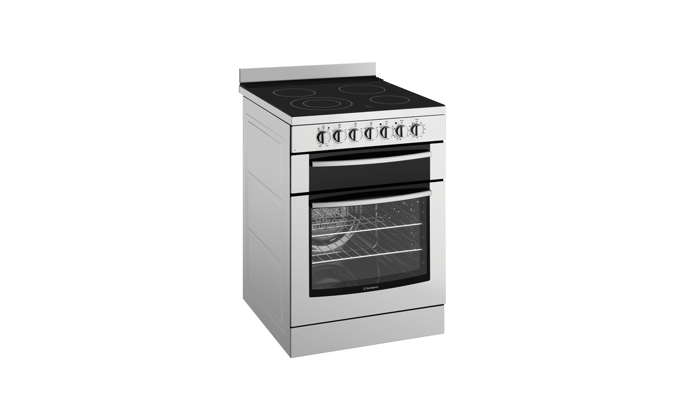 Westinghouse 60cm Electric Upright Cooker with ceramic hob WFE647SA
