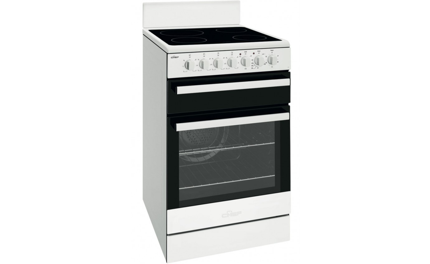Chef 54cm Freestanding Electric Cooker CFE547WB