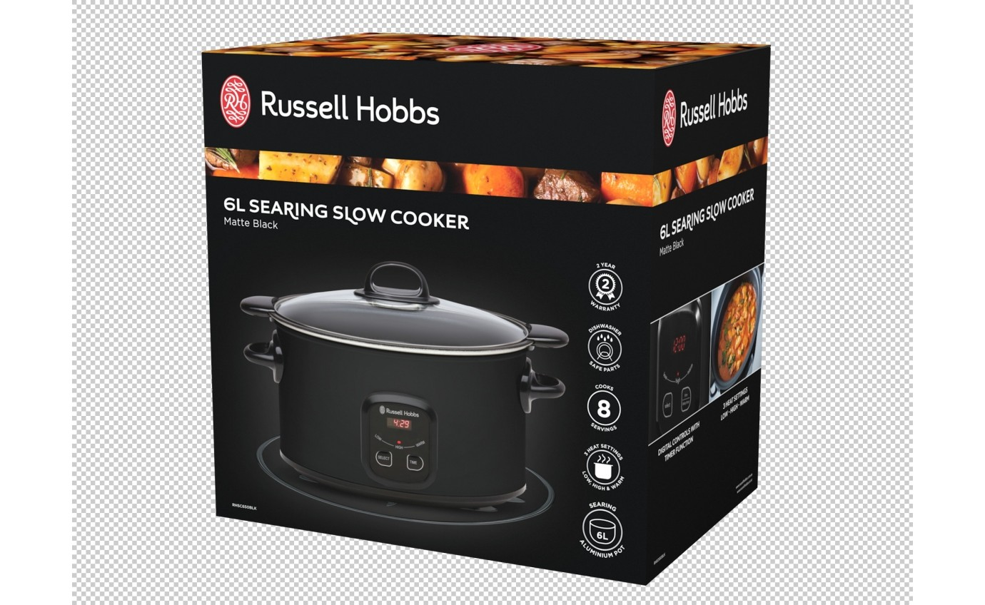 Russell Hobbs 6L Searing Slow Cooker RHSC650BLK