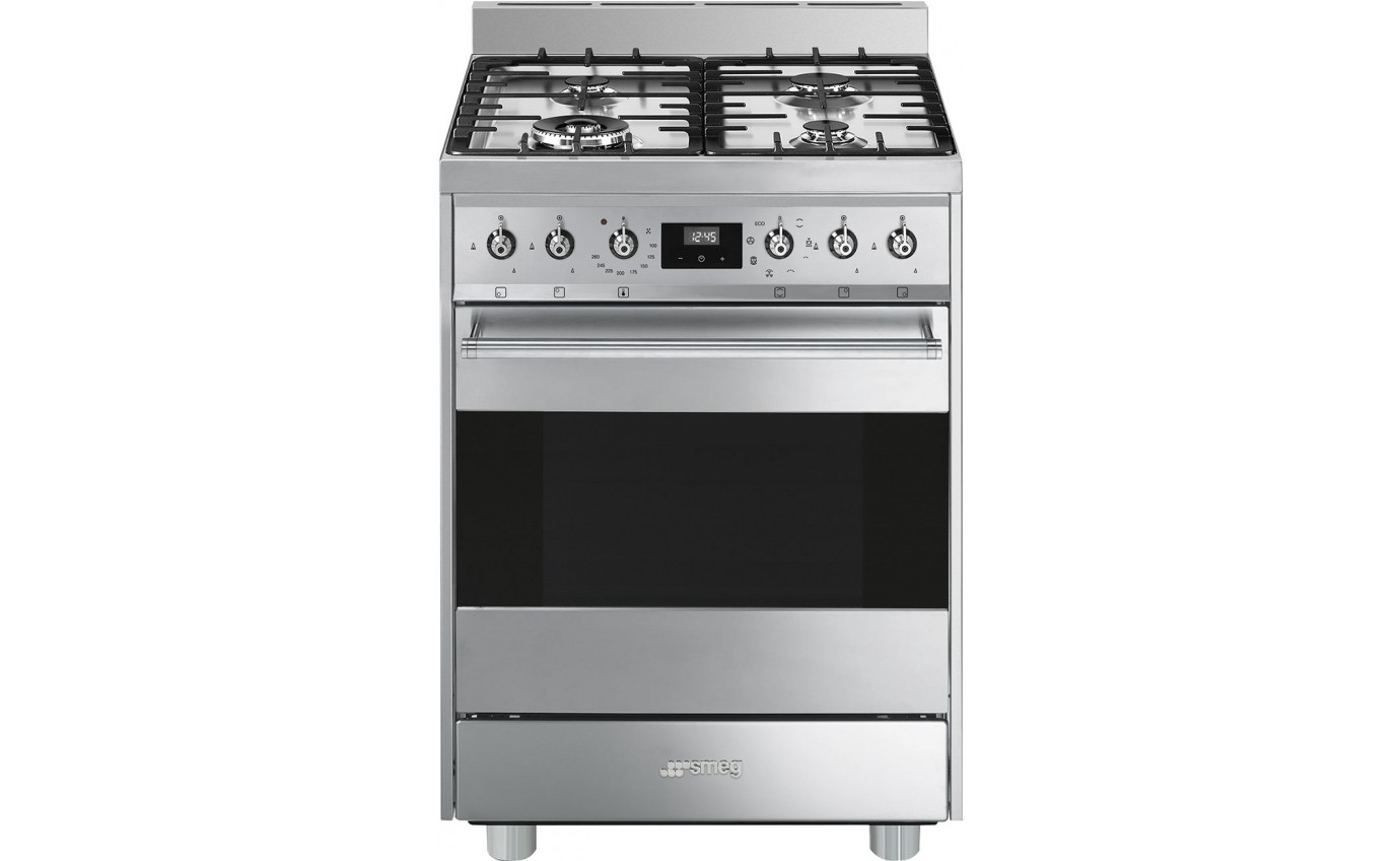 Smeg 60cm Gas/Electric Upright Cooker CS6GMXA