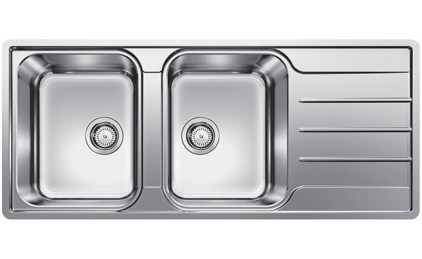 Blanco Double Bowl Sink with Drainer