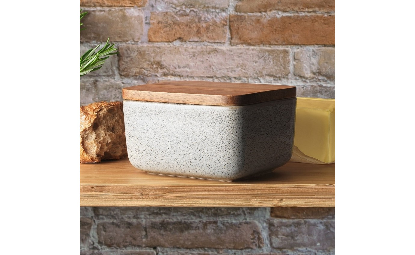Ecology Mineral Butter Dish Overcast 14.5cm x 13cm EC63100