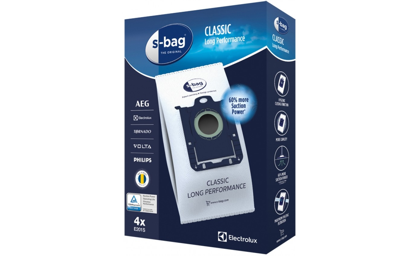 Electrolux s-bag® Classic Long Performance Dust Bags E201S
