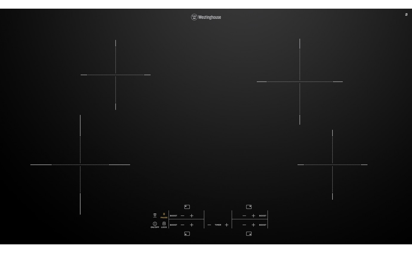 Westinghouse 90cm 4 Zone Induction Cooktop WHI943BC