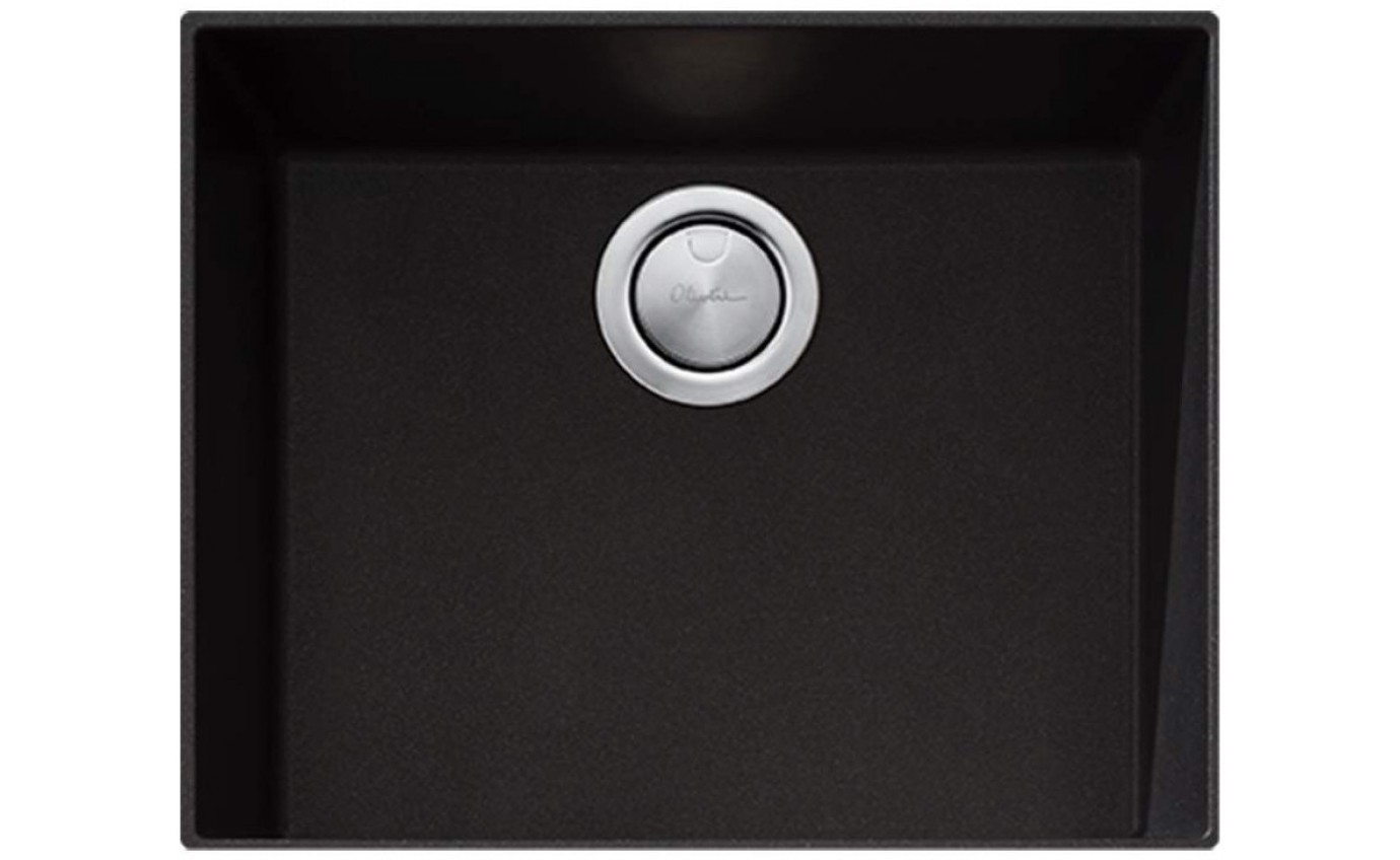 Oliveri Santorini Black Large Bowl Undermount Sink STBL1550U