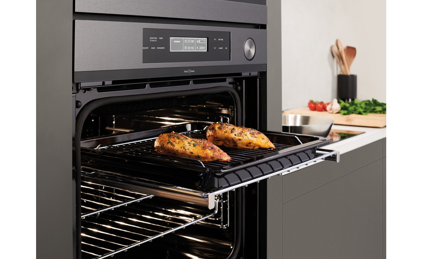 Westinghouse 60cm Multifunction Pyrolytic Oven - Dark Stainless WVEP618DSC