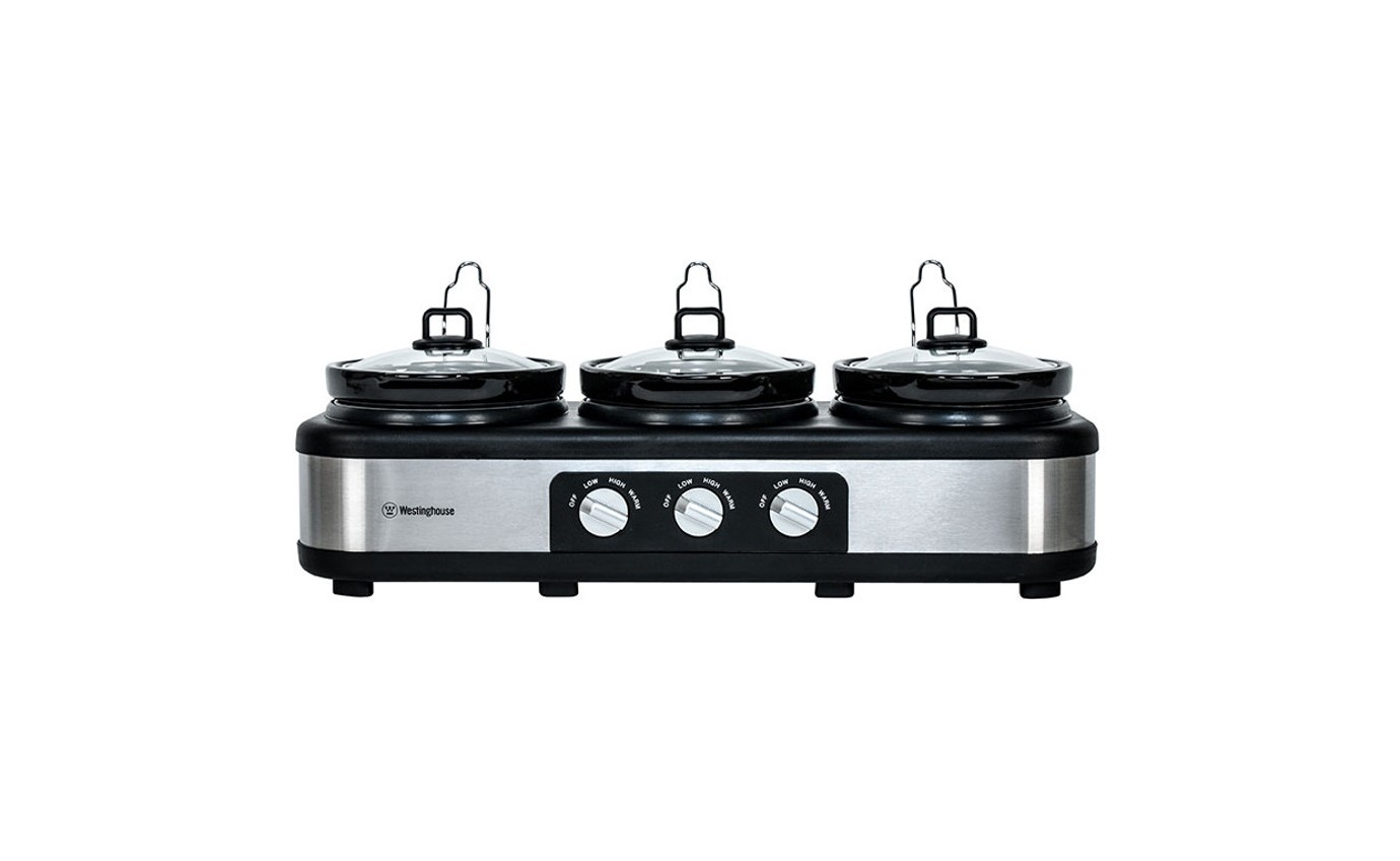 Westinghouse 3 Pot Slow Cooker WHSC03SS