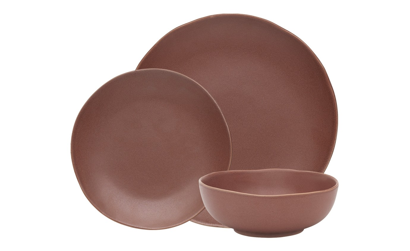 Ecology 12 Piece Dinner Set Cinnamon EC61652
