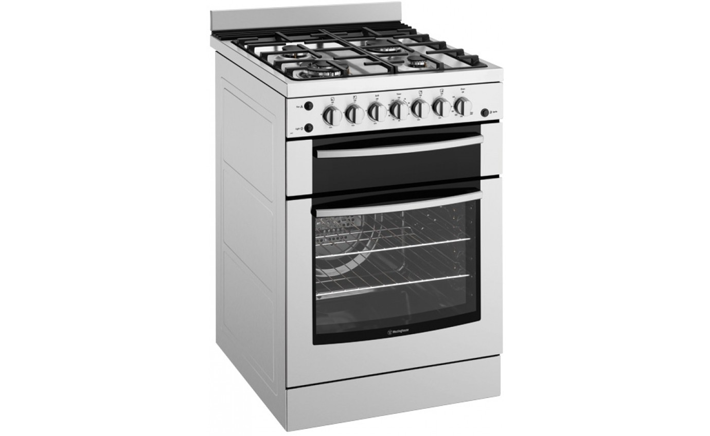 Westinghouse 60cm Natural Gas Only Cooker WFG617SANG