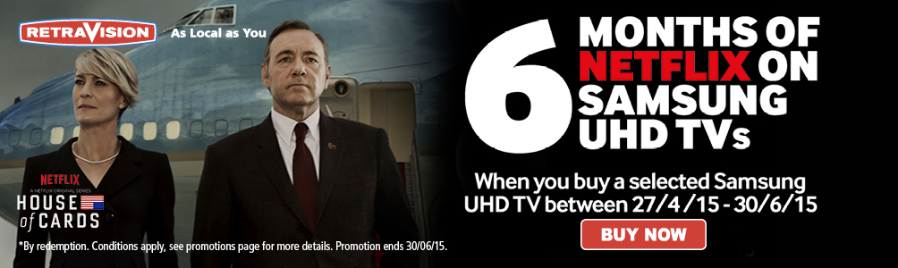 Samsung UHD TV with 6 months free Netflix