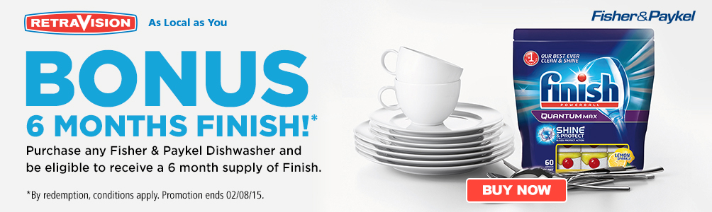 Fisher & Paykel Dishwasher Bonus Finish