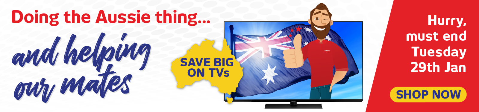 Australia Day Weekend TV Offers