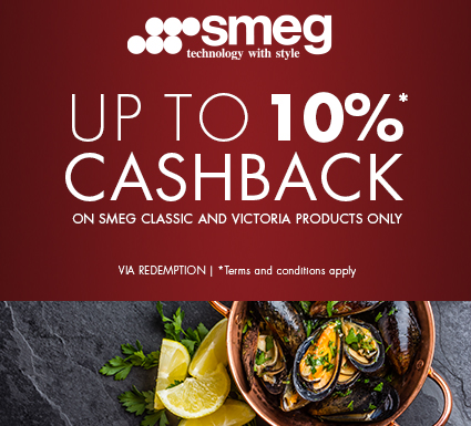 Smeg up to 10% Cashback
