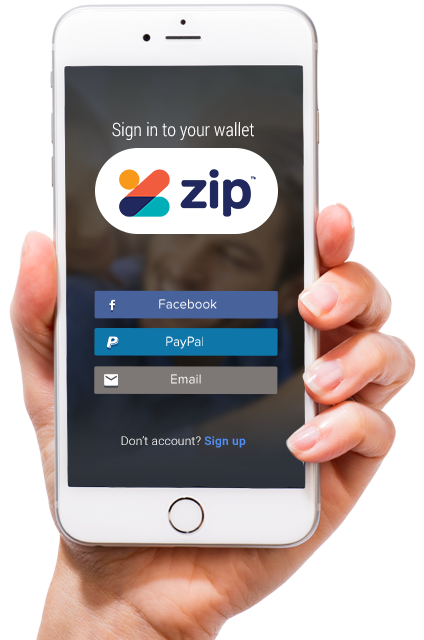 Sign in to your wallet on your phone