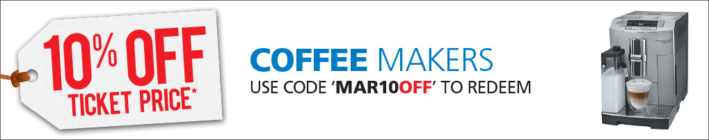 10% off Coffee Machines