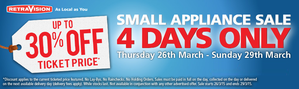Up to 30% off selected Small Appliances
