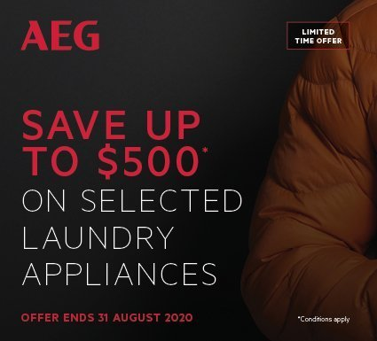 Save Up To $500 On AEG Laundry