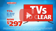Half Yearly Clearance - TCL TV and Haier Fridge