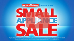 Retravision Small Appliance Sale - On Now