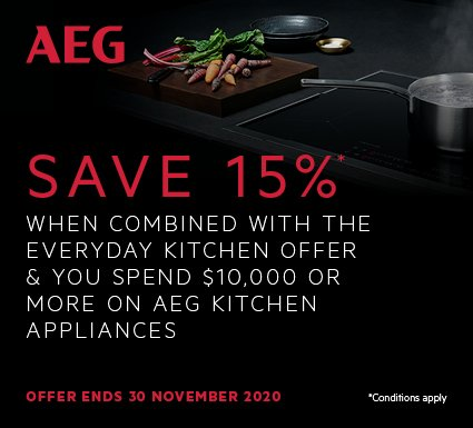 AEG Save 15% On Kitchen Packages