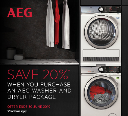 AEG Save 20% on Washer & Dryer Package