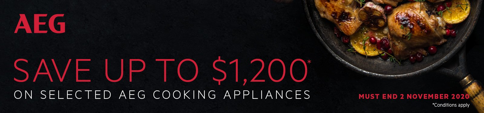 Save Up To $1200 On Selected AEG Cooking Appliances