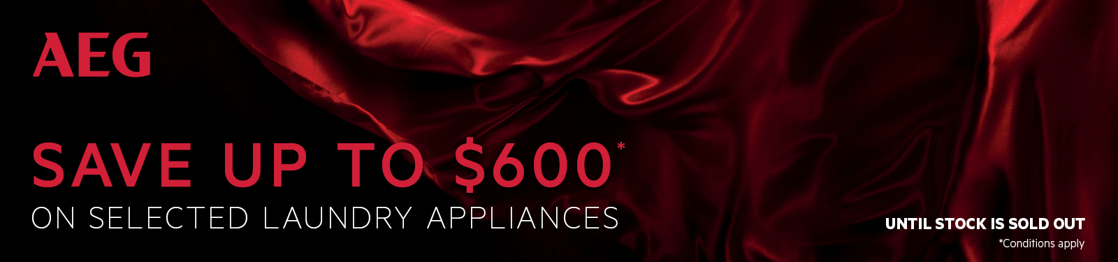 Save Up To $600 On Selected AEG Laundry Appliances