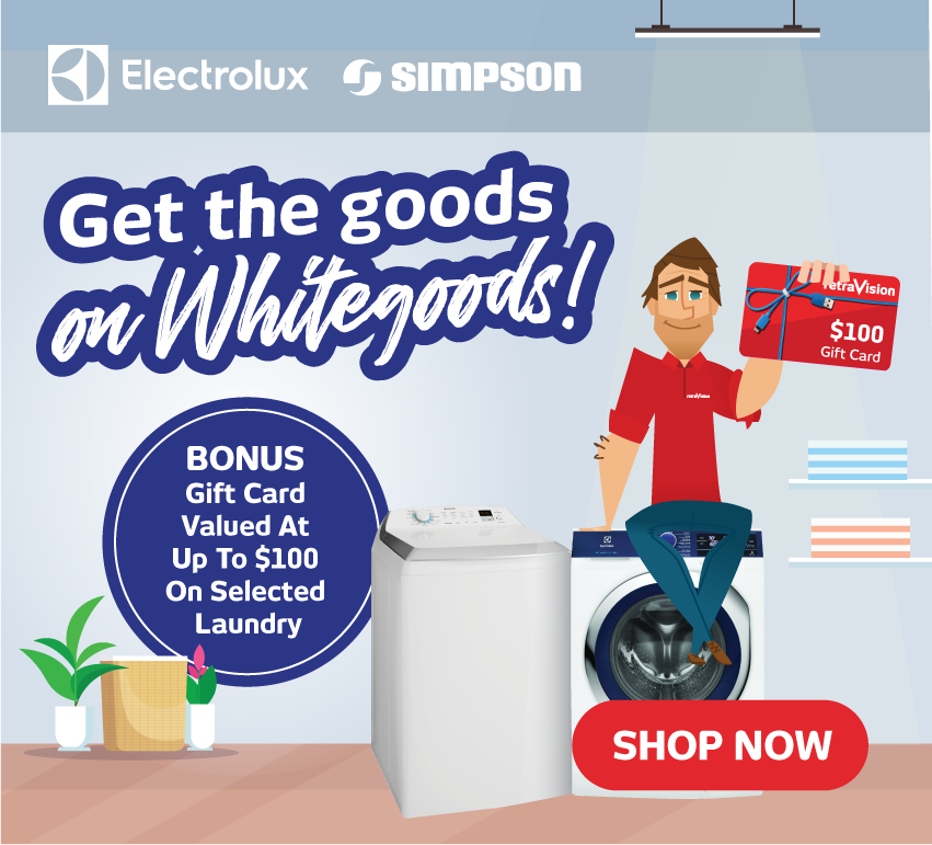 Simpson / Electrolux Bonus Gift Card with Selected Laundry
