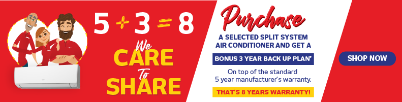 5+3 Year Customer Care Plan Air Con Promotion