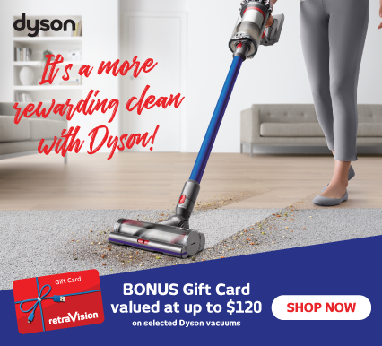 Bonus Gift Cards with Selected Dyson Vacuum Cleaners