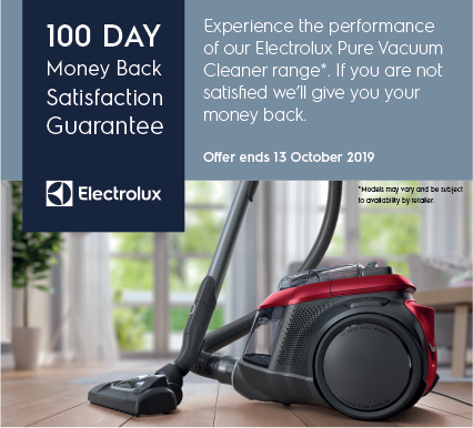 Electrolux 100 day Money Back guarantee