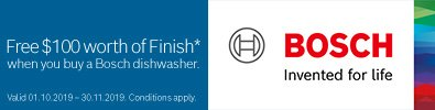 Free FINISH with Bosch Dishwasher