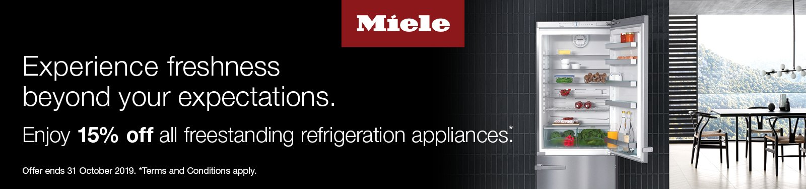 Miele 15% Off All Freestanding Refrigeration