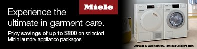 Miele Save up to $800 on Dishwashers