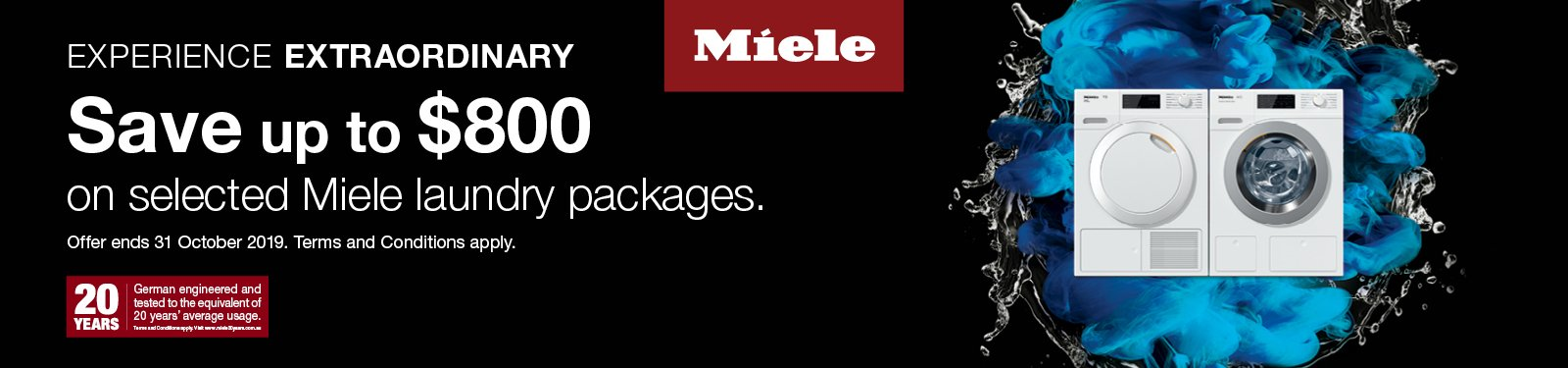 Miele Save Up To $800 On Selected Laundry Packages