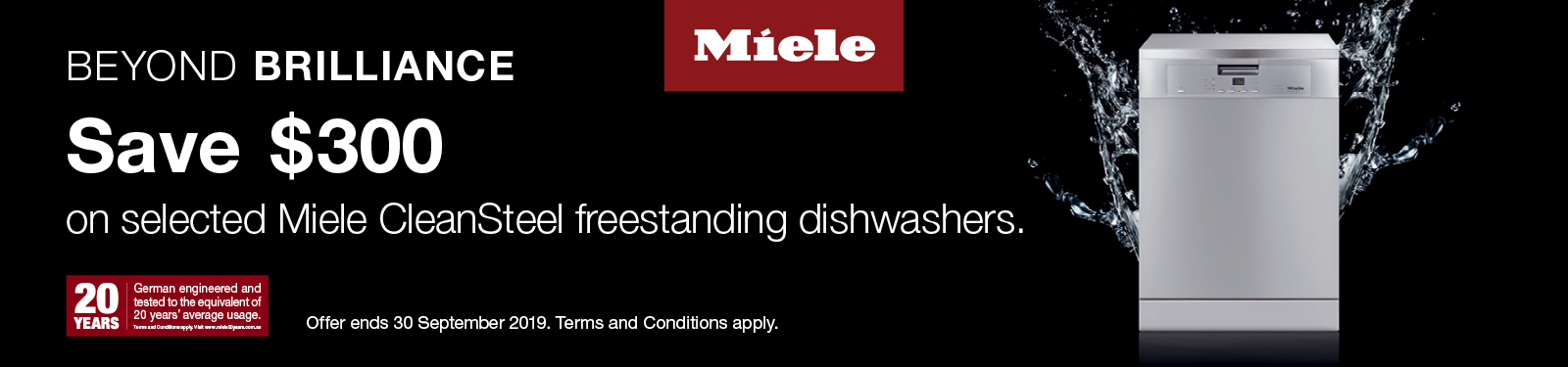 Miele Save up to $300 on Dishwashers