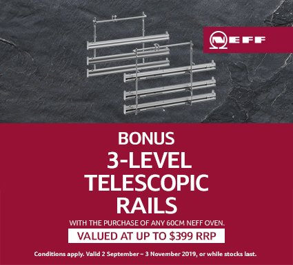 NEFF Bonus 3-Level Telescopic Rails
