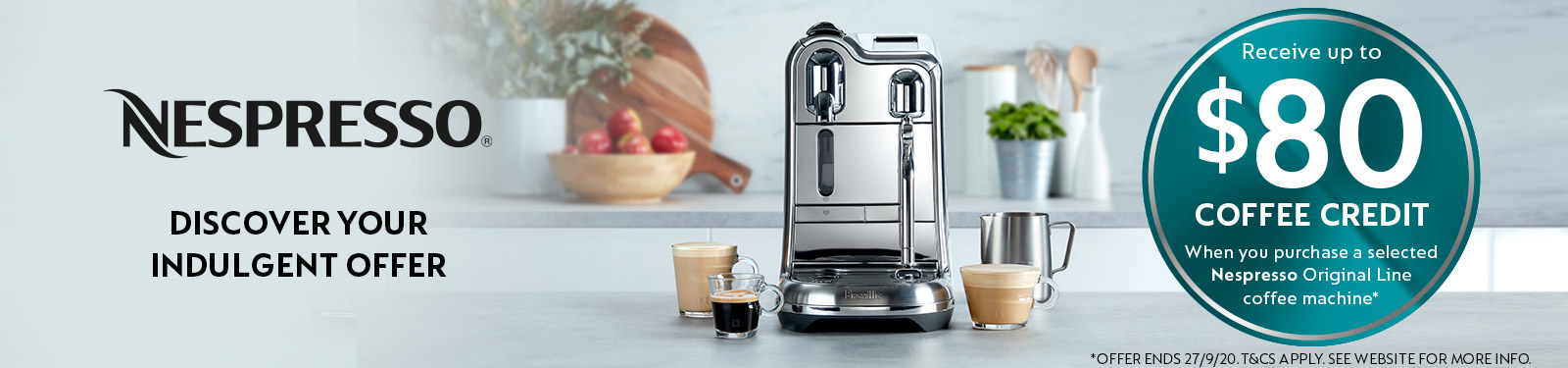 Delonghi Up To $80 Coffee Credit