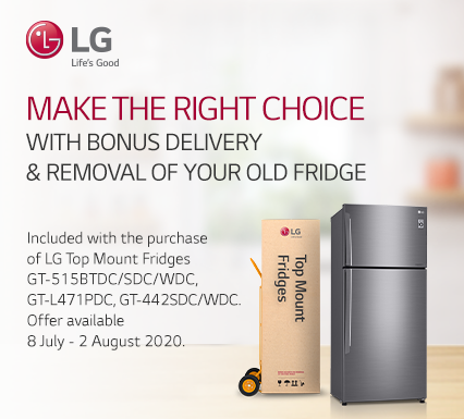LG Top Mount Fridge - Free Delivery and Removal